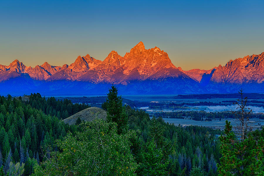 Teton alpenglow morning light fine art nature prints