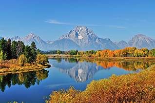 Autumn Reflections at Oxbow Bend in Grand Teton National Park fine art nature prints