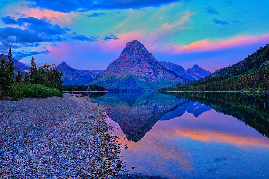 Dawn along Two Medicine Lake in Glacier National Park