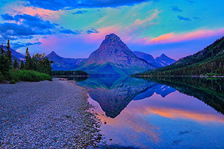 Dawn at Two Medicine Lake in Glacier National Park