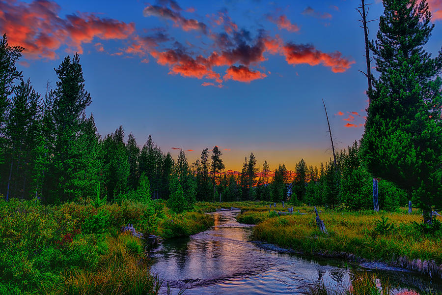 Evening on Lucky Dog Creek fine art nature prints
