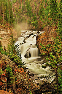 Firehole Falls in Yellowstone National Park fine art nature prints