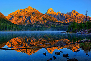 First Light at Taggart Lake fine art nature prints
