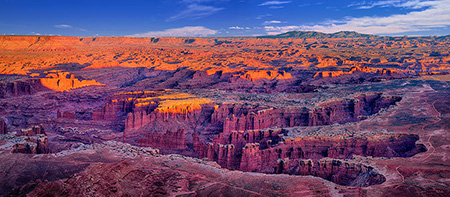 Grand View Point Canyonlands Evening Panorama
