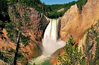 Lower Falls from Red Rock Point in Yellowstone fine art nature prints