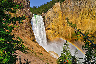 Lower Falls from Uncle Toms Trail in Yellowstone National Park