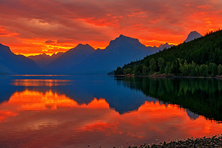 McDonald Sunrise in Glacier National Park