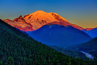 Rainier Alpenglow fine art nature prints