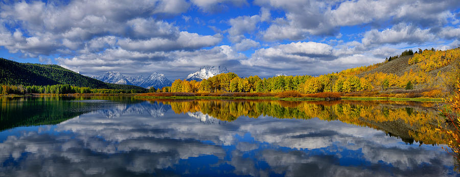 Oxbow Bend Peak Autumn Teton Panorama fine art nature prints