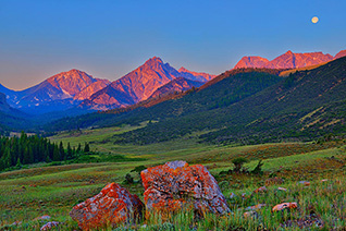 Sunrise on the Lost River Range fine art nature prints