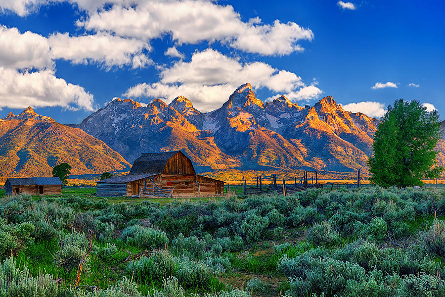 Sunrise on the Tetons Limited Edition fine art nature prints