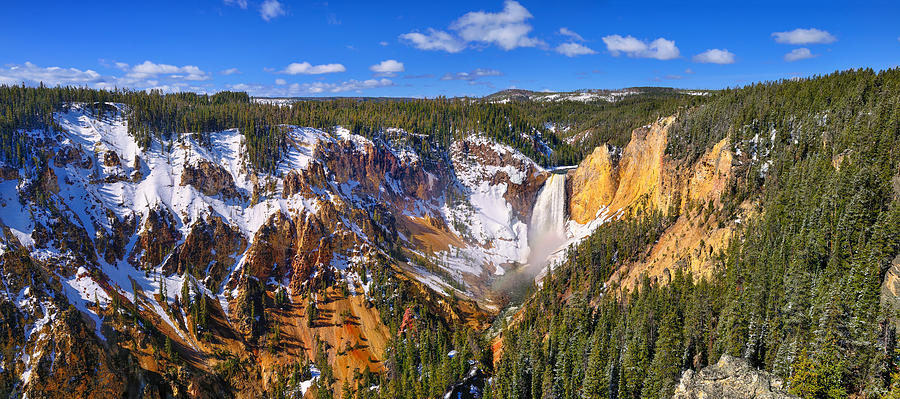 Grand Canyon of the Yellowstone Panoramic fine art prints