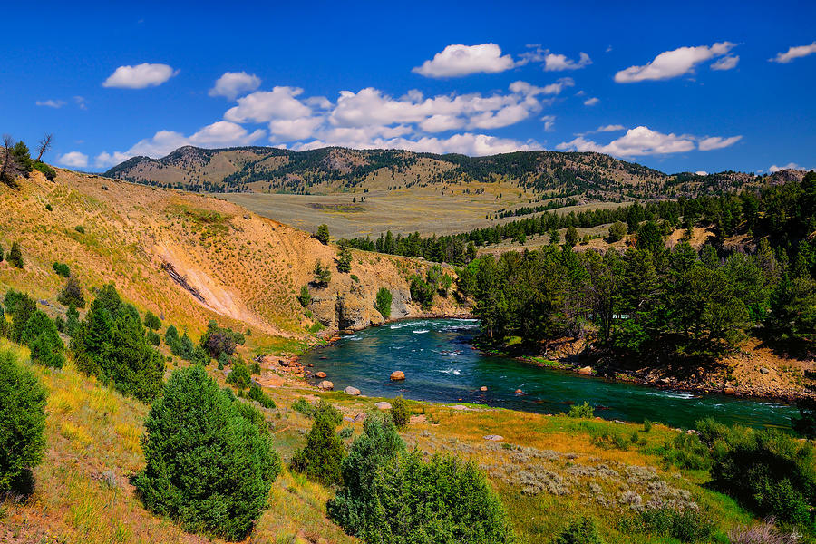 Yellowstone River Bend fine art nature prints