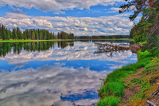 Yellowstone River Reflections fine art nature prints