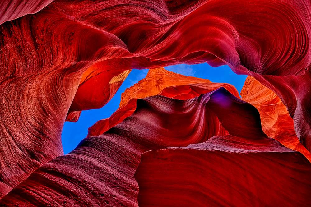 Fire Beneath the Sky in Antelope Canyon