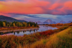Autumn Dawn at Oxbow Bend Limited Edition