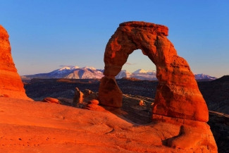 Sundown on Delicate Arch