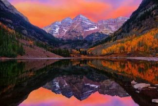 Maroon Bells Autumn Sunrise