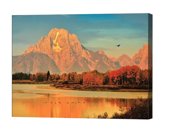 Oxbow Bend Autumn Dawn Canvas Print