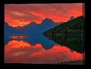 Lake McDonald Sunrise Canvas Print