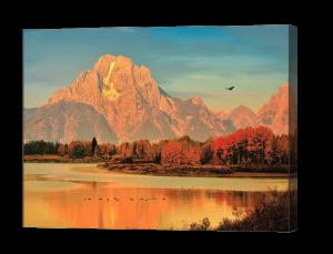 Oxbow Bend Autumn Dawn Canvas Print