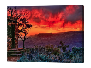 Stormy Grand Canyon Sunset Canvas Print