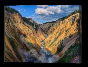 Yellowstone Canyon View Canvas Print