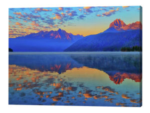 Redfish Lake Reflections Canvas Print