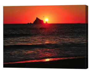 Rialto Beach Sunset Canvas Print