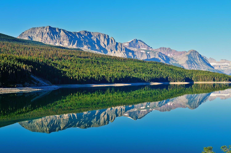 Lake Sherburne Reflections
