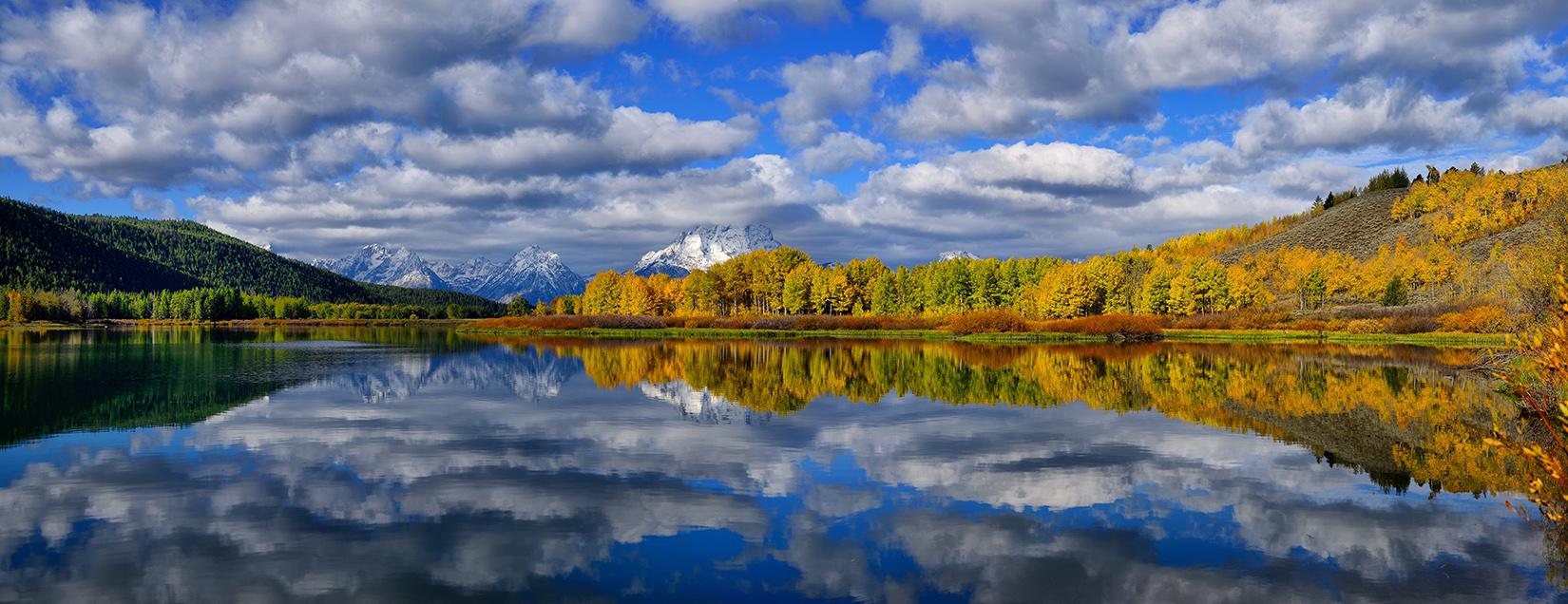 Oxbow Bend Peak Autumn Panorama