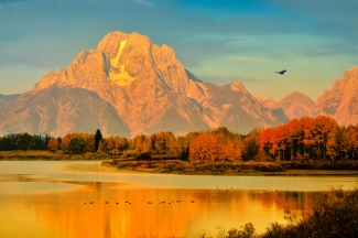 Autumn Dawn at Oxbow Bend