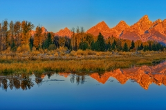 Panoramic Dawn at Schwabacher Landing