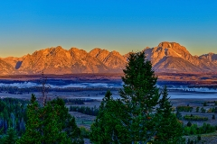 First Light on the Tetons