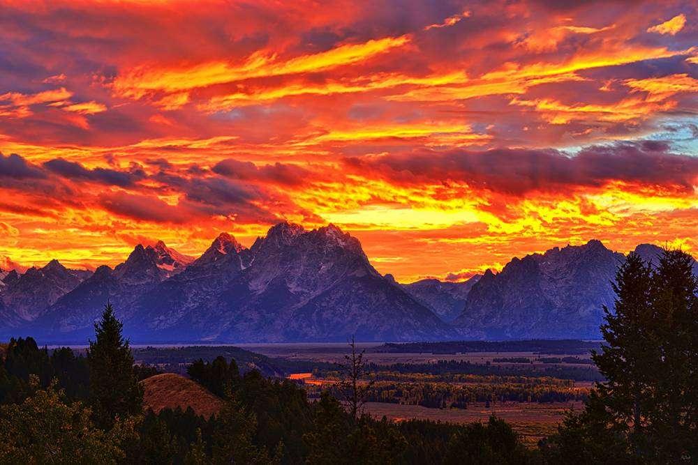Fire In The Teton Sky