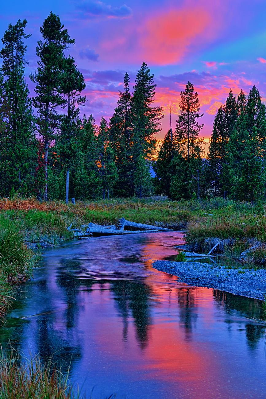 Sunset on Lucky Dog Creek