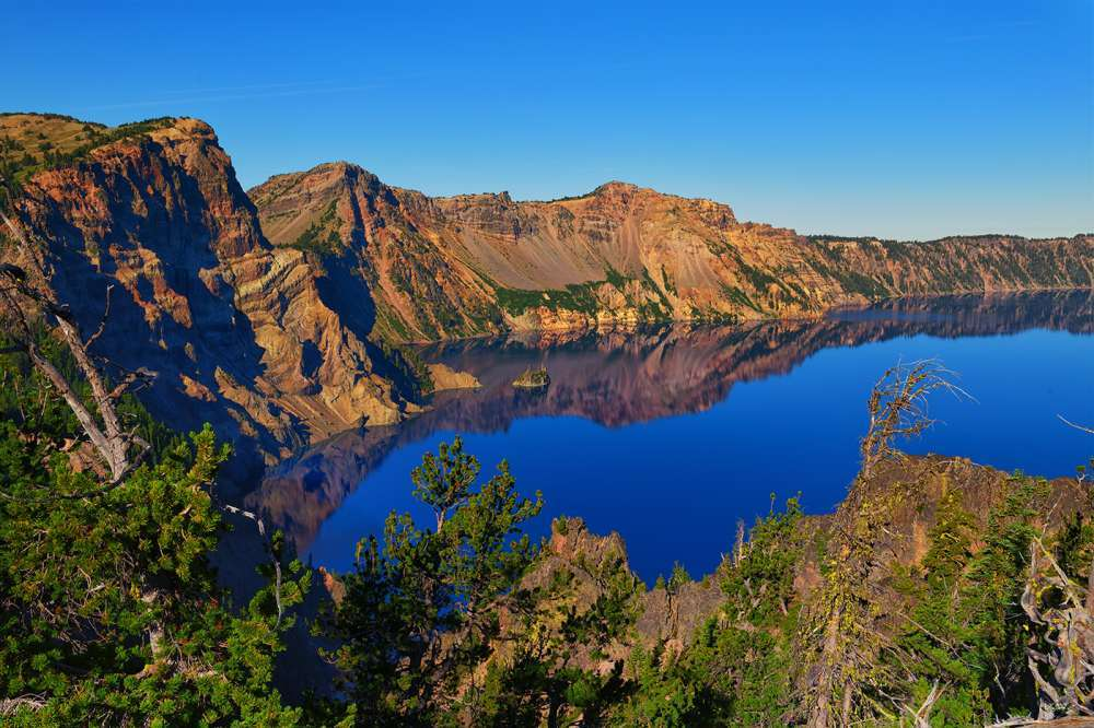 Crater Lake Morning Reflections