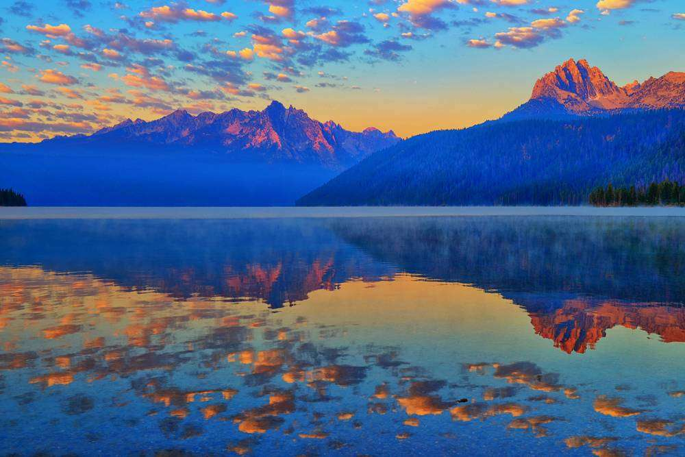 Redfish Lake Morning Reflections