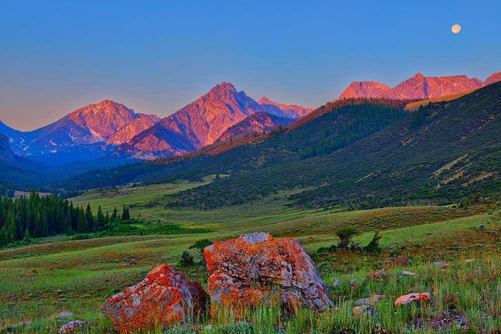 Sunrise on the Lost River Range