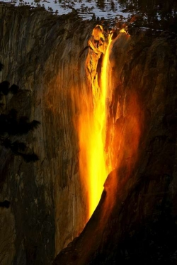 Horsetail Fall Aglow