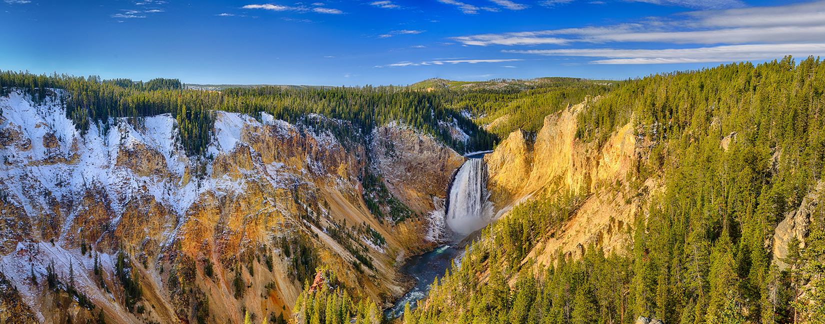Yellowstone Grand Canyon Panorama From Lookout Point