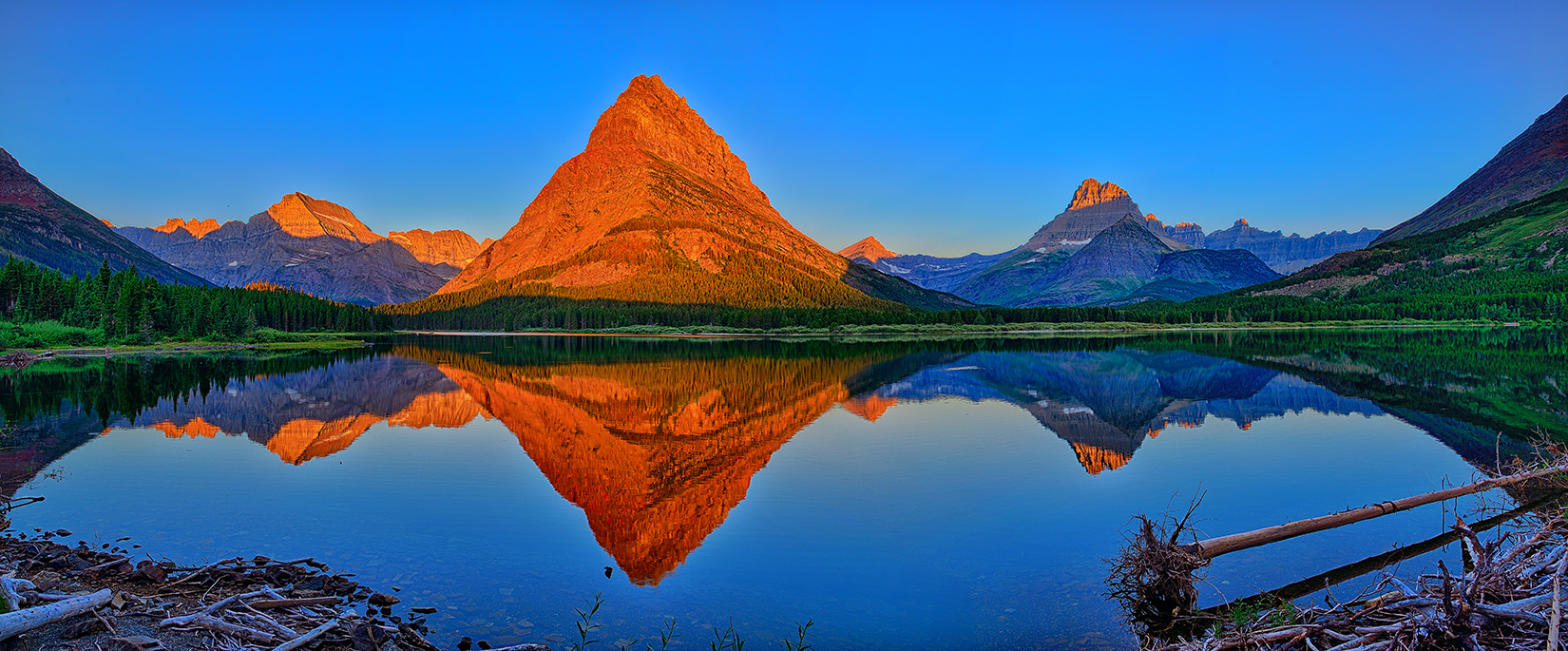 Grinnell Point Alpenglow Panorama