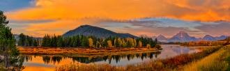 Oxbow Bend Dawn Panorama