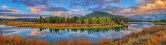 Oxbow Bend Early Autumn Panorama