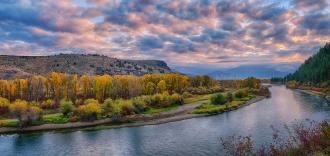 Snake River Autumn Sunrise Panorama