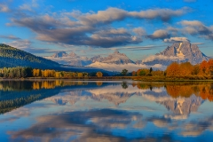 Teton Panoramic Reflections At Oxbow Bend