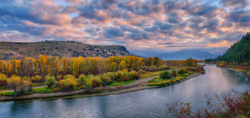 Snake River Autumn Sunrise Panorama