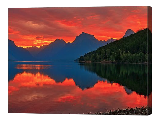Lake McDonald Sunrise Canvas Print