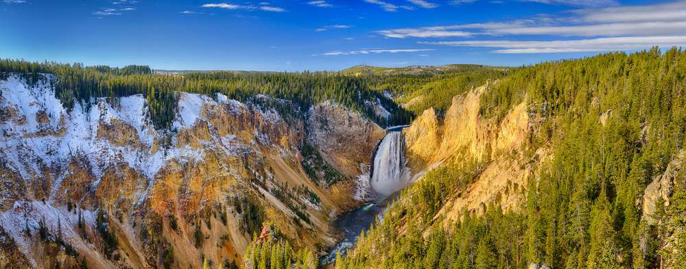 Yellowstone Grand Canyon From Lookout Point