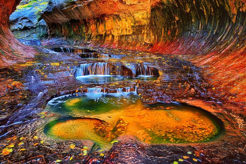 Zion Subway Falls